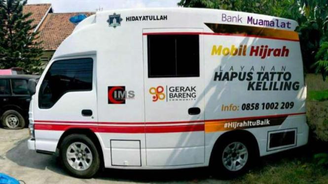 Mobil Hijrah untuk layanan gratis menghapus tato.