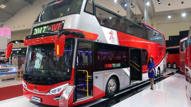 Ilustrasi bus karya karoseri lokal