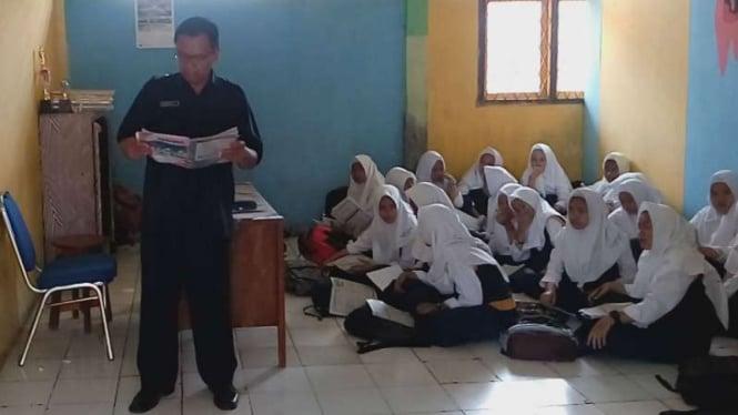 Para siswa di Madrasah Tsanawiyah Negeri Kota Depok, Jawa Barat. (Foto ilustrasi).