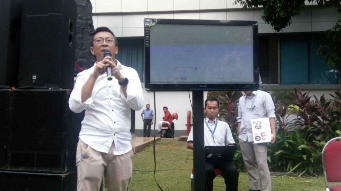 Peluncuran sistem ticketing pengaduan konten negatif di kantor Kominfo, Jakarta, Selasa, 15 Agustus 2017.