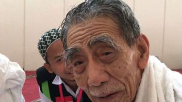 KH Maimoen Zubair alias Mbah Moen kembali melaksanakan ibadah haji tahun ini
