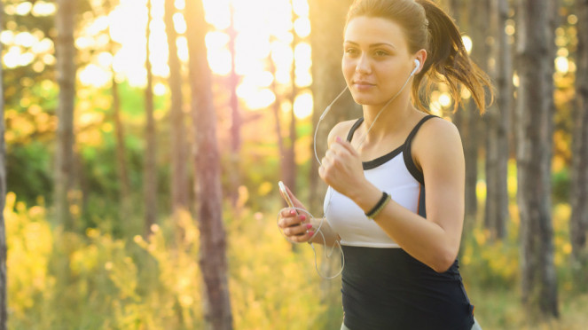 Ilustrasi lari atau joging.