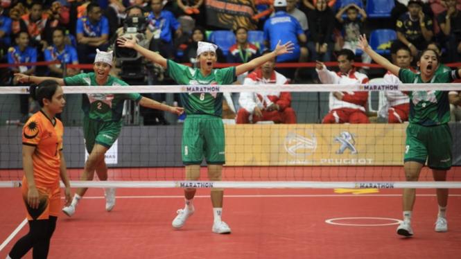 Tim sepak takraw putri Indonesia di SEA Games 2017