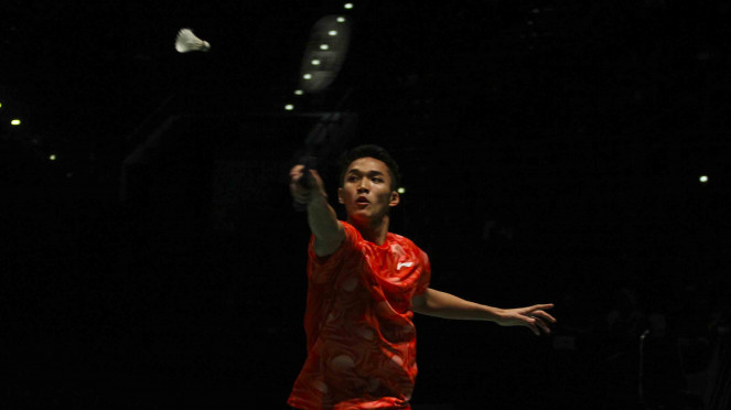 Jonatan Christie Tampil Prima di Final Bulu Tangkis Indonesia vs Malaysia SEA Ga