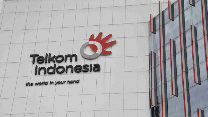 Logo Telkom Indonesia.