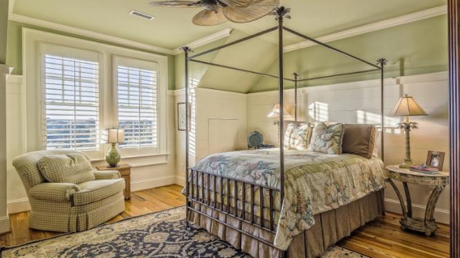 Ilustrasi kamar tidur/interior rumah.