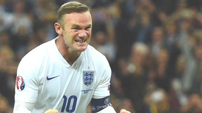 Wayne Rooney saat masih memperkuat Timnas Inggris