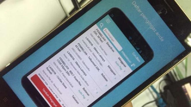 Aplikasi SatuBon pengingat tagihan.