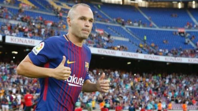 Mantan pemain Barcelona, Andres Iniesta.