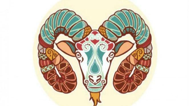 Lambang zodiak Aries.