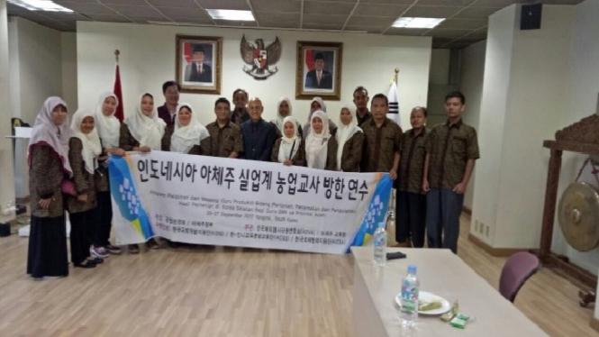 Para guru SMK di Aceh ikuti pelatihan di Korea Selatan.