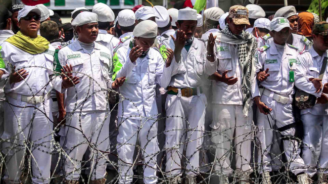 FPI di aksi solidaritas muslim Rohingya