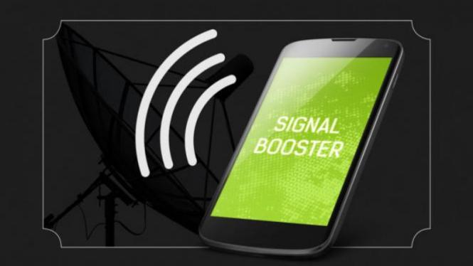 Ilustrasi memperkuat sinyal ponsel.