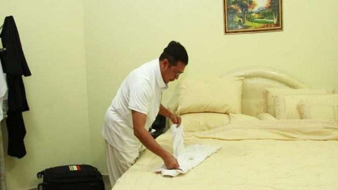 Amirul Hajj yang juga Menteri Agama, Lukman Hakim Saifuddin di Kadaker Mekah