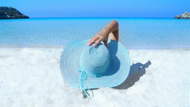 Ilustrasi suhu panas dan liburan