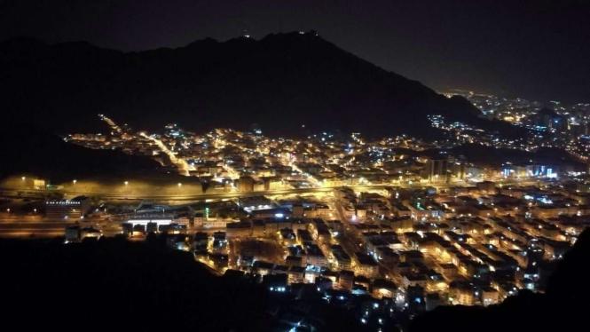 Pemadangan Kota Mekah dari bukit Jabal Nur.
