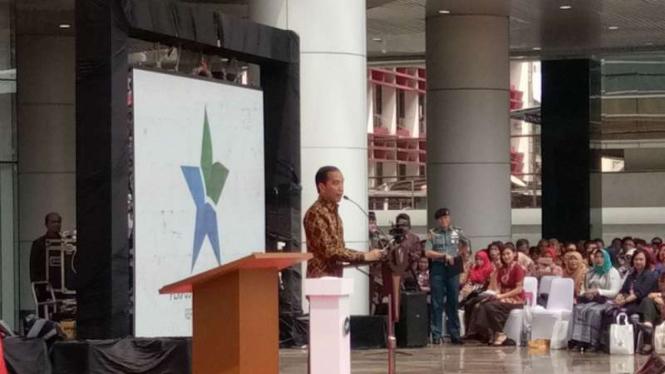 Presiden Jokowi  resmikan pembangunan gedung Perpustakaan Nasional RI