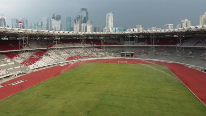 Penampakan terbaru Stadion Utama Gelora Bung Karno, Jakarta