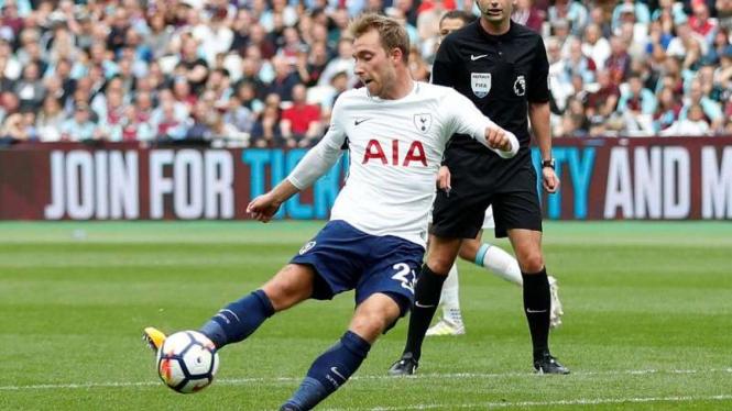 Gelandang Tottenham Hotspur, Christian Eriksen.