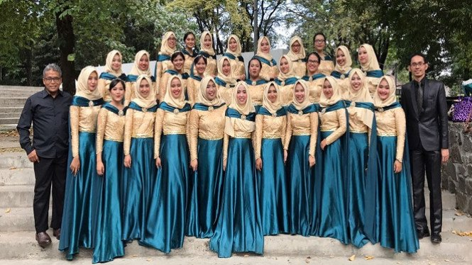 Tim paduan suara mahasiswa IPB.