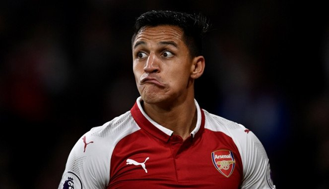 Bintang Arsenal, Alexis Sanchez.