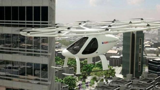 Prototipe taksi terbang tanpa awak buatan Dubai.