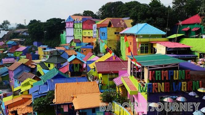 Kampung Warna warni. Foto: Very barus