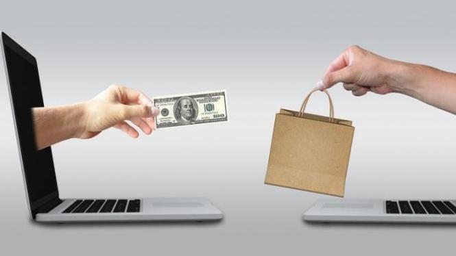 Ilustrasi belanja online.
