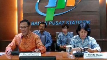 Kepala BPS Suhariyanto (Kiri).