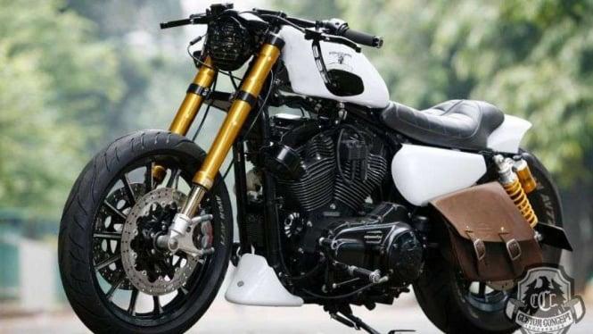 Ilustrasi Harley-Davidson.