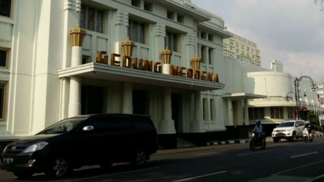 Gedung Merdeka di Bandung, Jawa barat, pada tahun 2017.