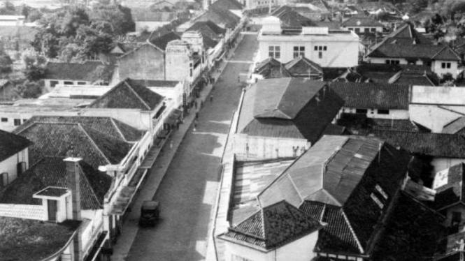 Jalan Braga di Bandung, Jawa Barat, pada tahun 1947.