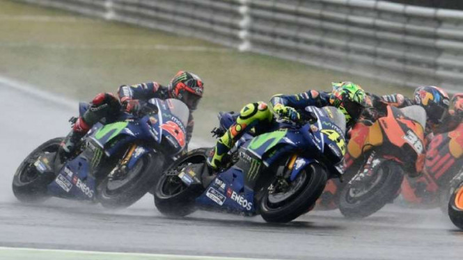 pembalap Movistar Yamaha, Valentino Rossi dalam MotoGP Jepang