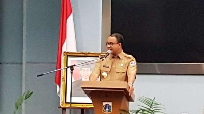 Gubernur DKI Jakarta Anies Baswedan di Balai Kota DKI.