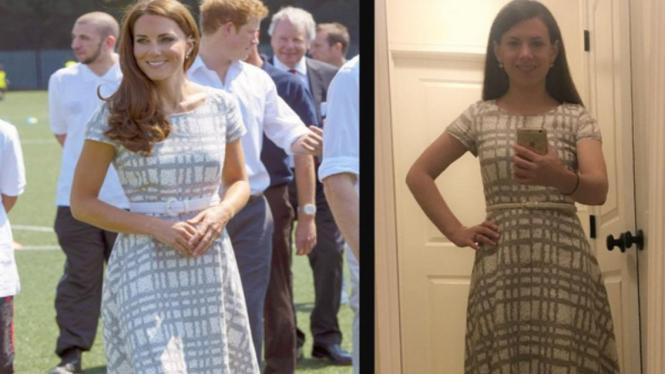 Mallory meniru gaya Kate Middleton
