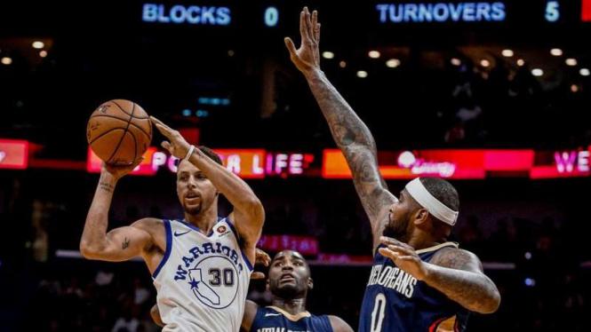 Pertandingan New Orleans Pelicans vs Golden State Warriors
