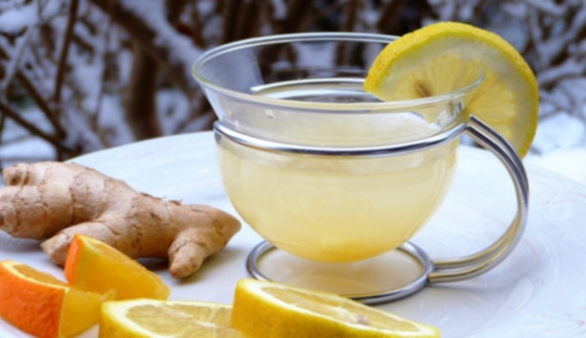 Air lemon dan sari jahe