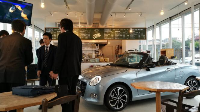 Copen Local Base Kamakura, diler masa depan Daihatsu di Kanagawa, Jepang.