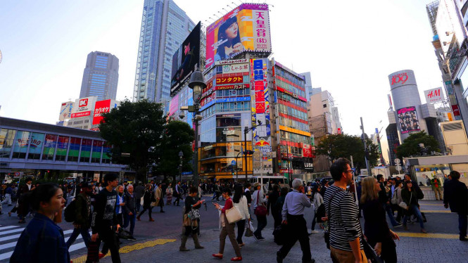 Kota Tokyo, Jepang.