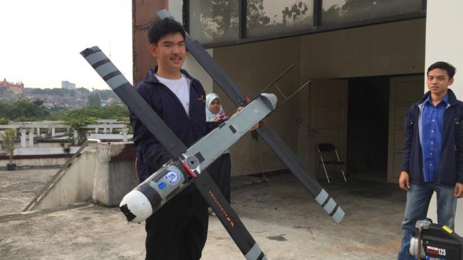 Drone Folding Wing karya mahasiswa ITB.