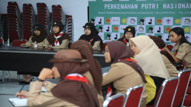 Perkemahan Pramuka Putri Nasional.