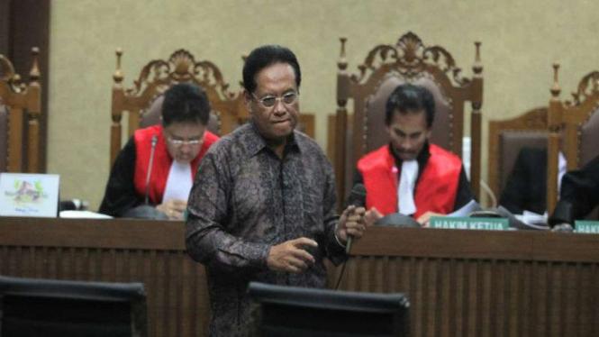 Mantan Dirut Murakabi Deniarto saat bersaksi di sidang kasus korupsi e-KTP