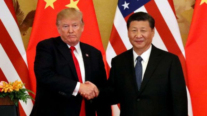 Presiden China Xi Jinping dan Presiden Amerika Serikat Donald Trump