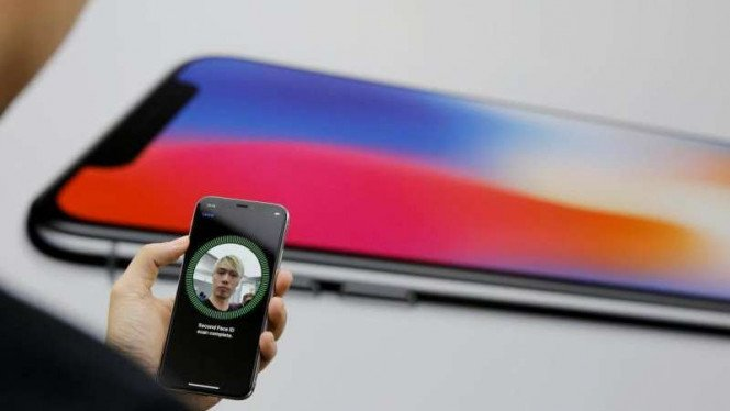 Face ID iPhone X.