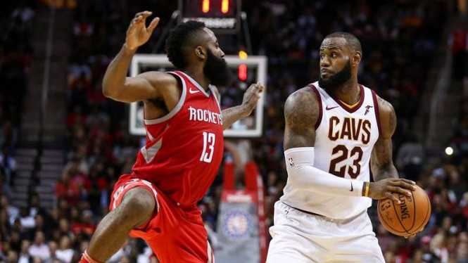 Pertandingan NBA antara Houston Rockets melawan Cleveland Cavaliers