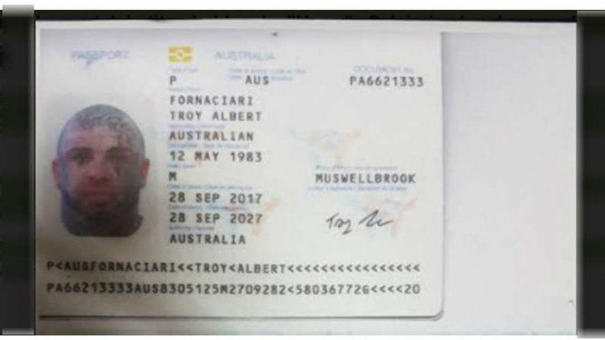 Troy Albert Fornaciari, warga negara Australia yang ditolak masuk ke Pulau Dewata Bali, Jumat (10/11/2017)