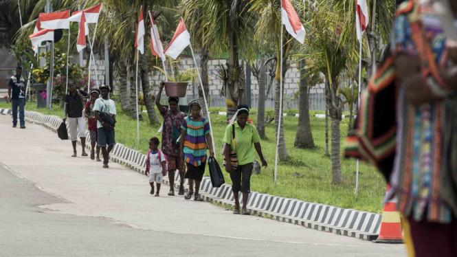 (Ilustrasi) Aktivitas Ekonomi di Perbatasan Papua-Papua Nugini