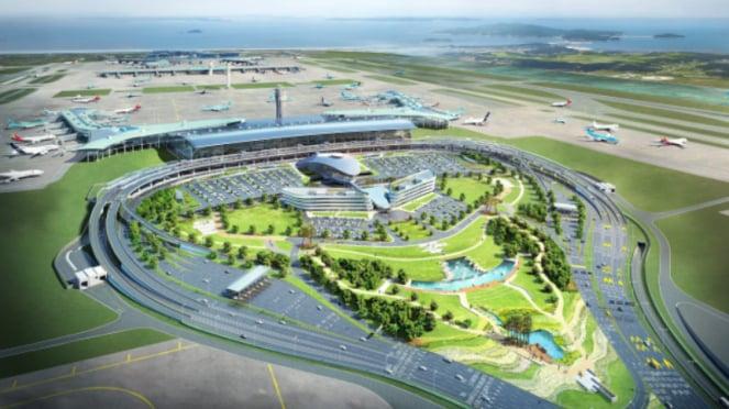 Terminal 2 Bandara Internasional Incheon, Korea Selatan.