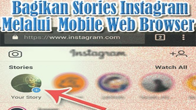 Instagram stories.