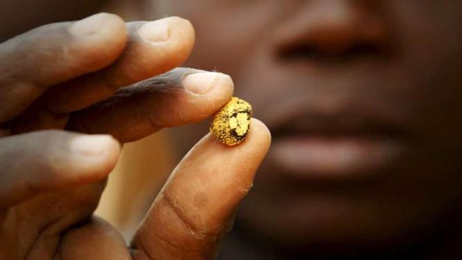 Ilustrasi-Penambang emas.